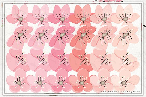 Cherry Blossoms 04 - Graphics Pack in Illustrations - product preview 3