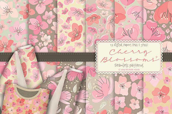 Cherry Blossoms 04 - Graphics Pack in Illustrations - product preview 6