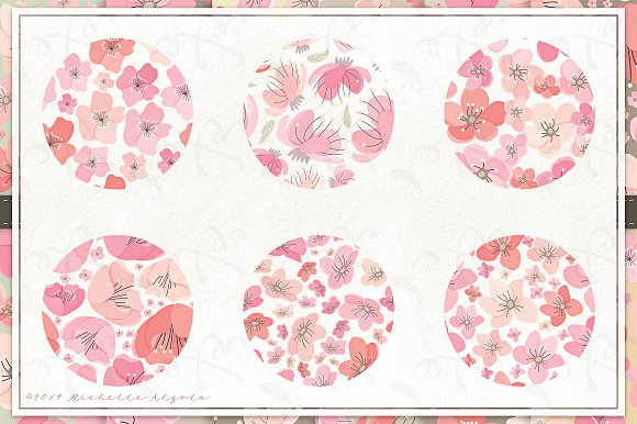 Cherry Blossoms 04 - Graphics Pack in Illustrations - product preview 7