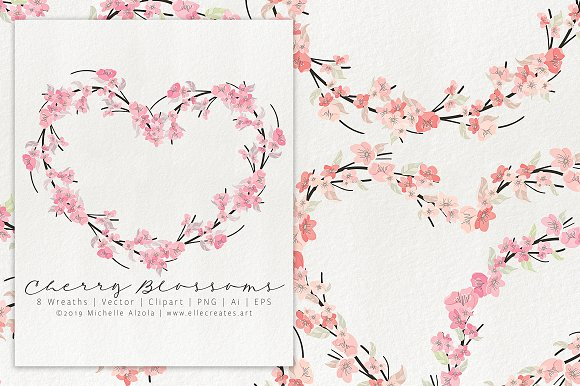 Cherry Blossoms 04 - Graphics Pack in Illustrations - product preview 8