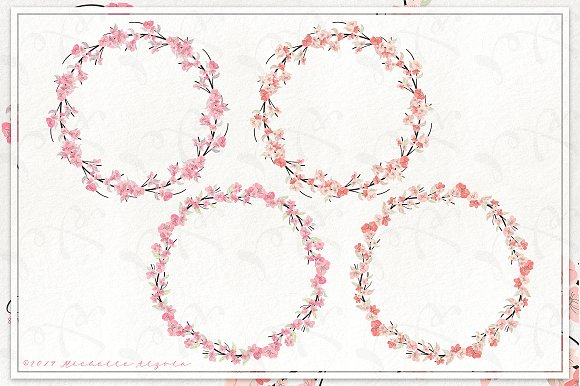 Cherry Blossoms 04 - Graphics Pack in Illustrations - product preview 9