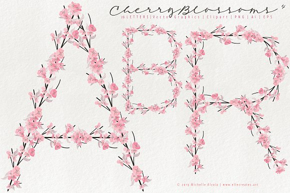 Cherry Blossoms 04 - Graphics Pack in Illustrations - product preview 11