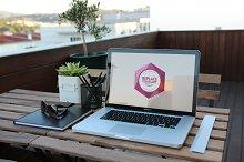Outdoor Office Mockup V.03