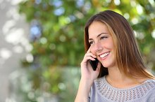 Beautiful and elegant woman on the mobile phone.jpg