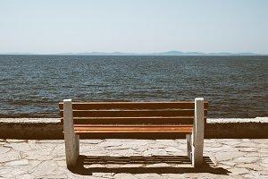 Bench near sea