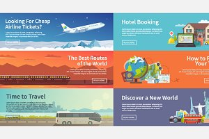 Web Travel Banners Set