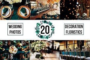 20 photos set of wedding decoration