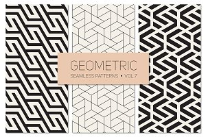 Geometric Seamless Patterns Set 7