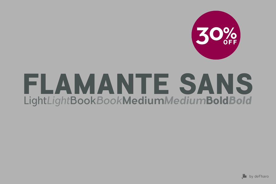 Flamante Sans -8 fonts-