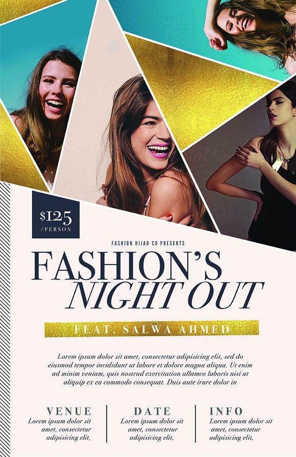 Fashion Week Flyer Template ~ Flyer Templates ~ Creative Market