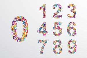 Number set from coloured numbers