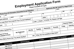 Employment Application Fillable PDF