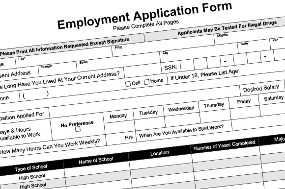 employment application fillable pdf resume templates creative market