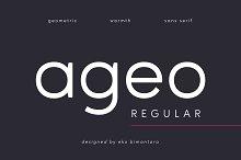 Ageo Regular by  in Sans Serif Fonts