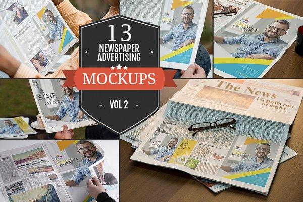Newspaper Advertising Mockups Vol…