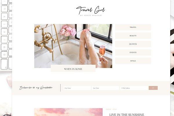 WordPress Themes: Adalaine Design - TravelGirl - Wordpress Theme Genesis