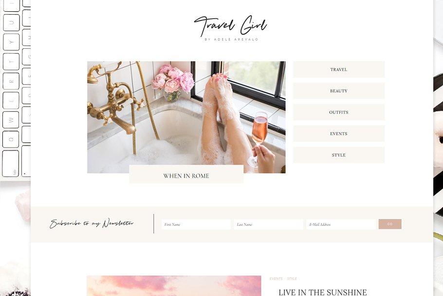 TravelGirl - Wordpress Theme Genesis