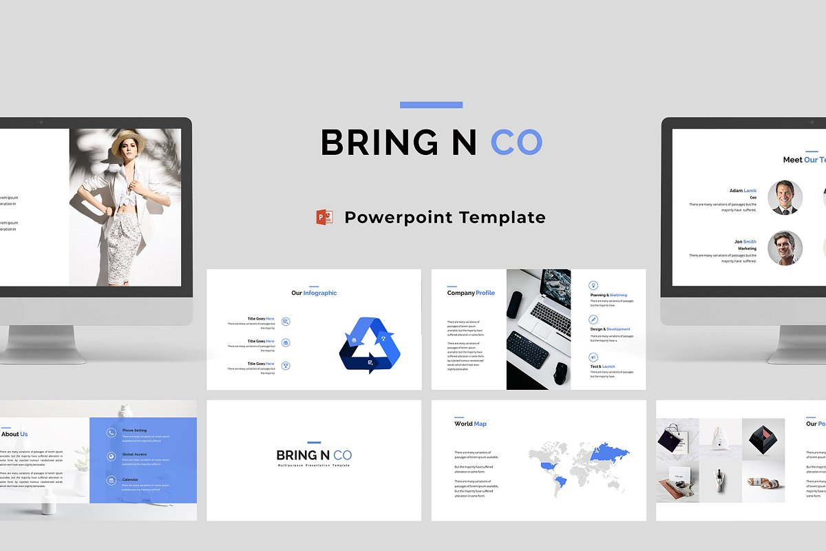 Bring N Co Powerpoint Template Presentation Templates Creative