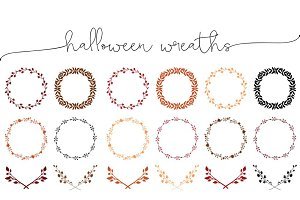 Fall Colored Wreaths