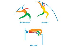 Javelin Throw Pole Vault High Jump I
