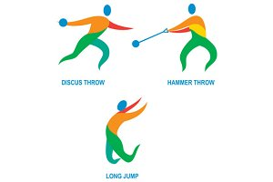 Hammer Throw Discus Throw Long Jump