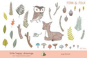 Fern & Folk | Clip Art
