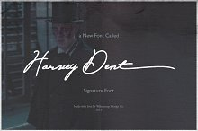 Harvey Dent Signature by  in Script Fonts