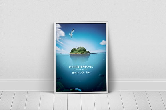Message in a Bottle Poster Template