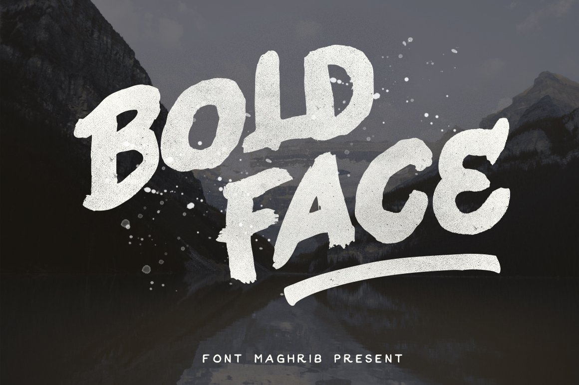 Bold Face Display Fonts Creative Market