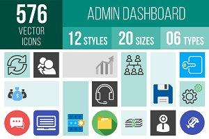 576 Admin Dashboard Icons