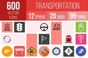 600 Transportation Icons