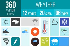 360 Weather Icons