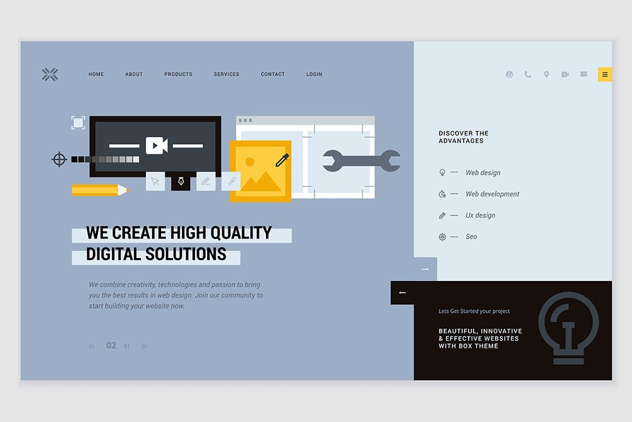Creative website template design