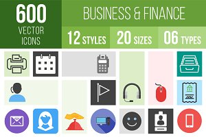 600 Business & Finance Icons