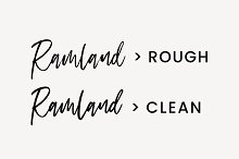 Ramland - Clean & Rough Script by  in Script Fonts