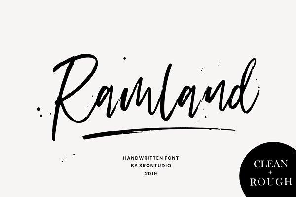 Script Fonts: Sronstudio - Ramland ...
