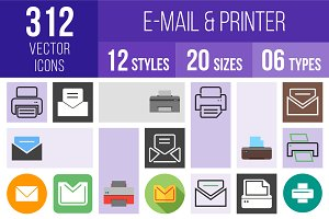312 Email & Printer Icons