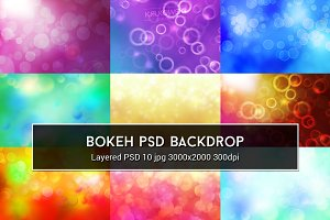 Bokeh PSD Backdrop