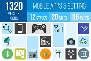 1320 Mobile Apps & Setting Icons