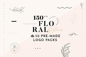 Floral Illustration & Logo Packs