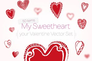 My Sweetheart | Valentine Vector Set