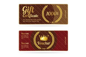 Gift certificate voucher. Vector