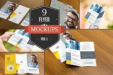 Attractive Flyer Mockup PSDs Vol. 1