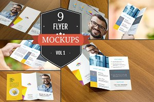 Attractive Flyer Mockup PSDs Vol. 1