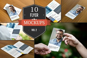 Beautiful Flyer Mockup PSDs Vol. 2