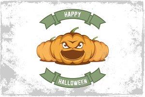 Vector halloween poster.
