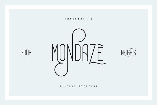 Mondaze Typeface - 4 Weights