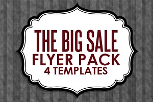 Big Sales Flyer Pack (4 in 1)