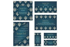 Set of 5 Damask Invitations
