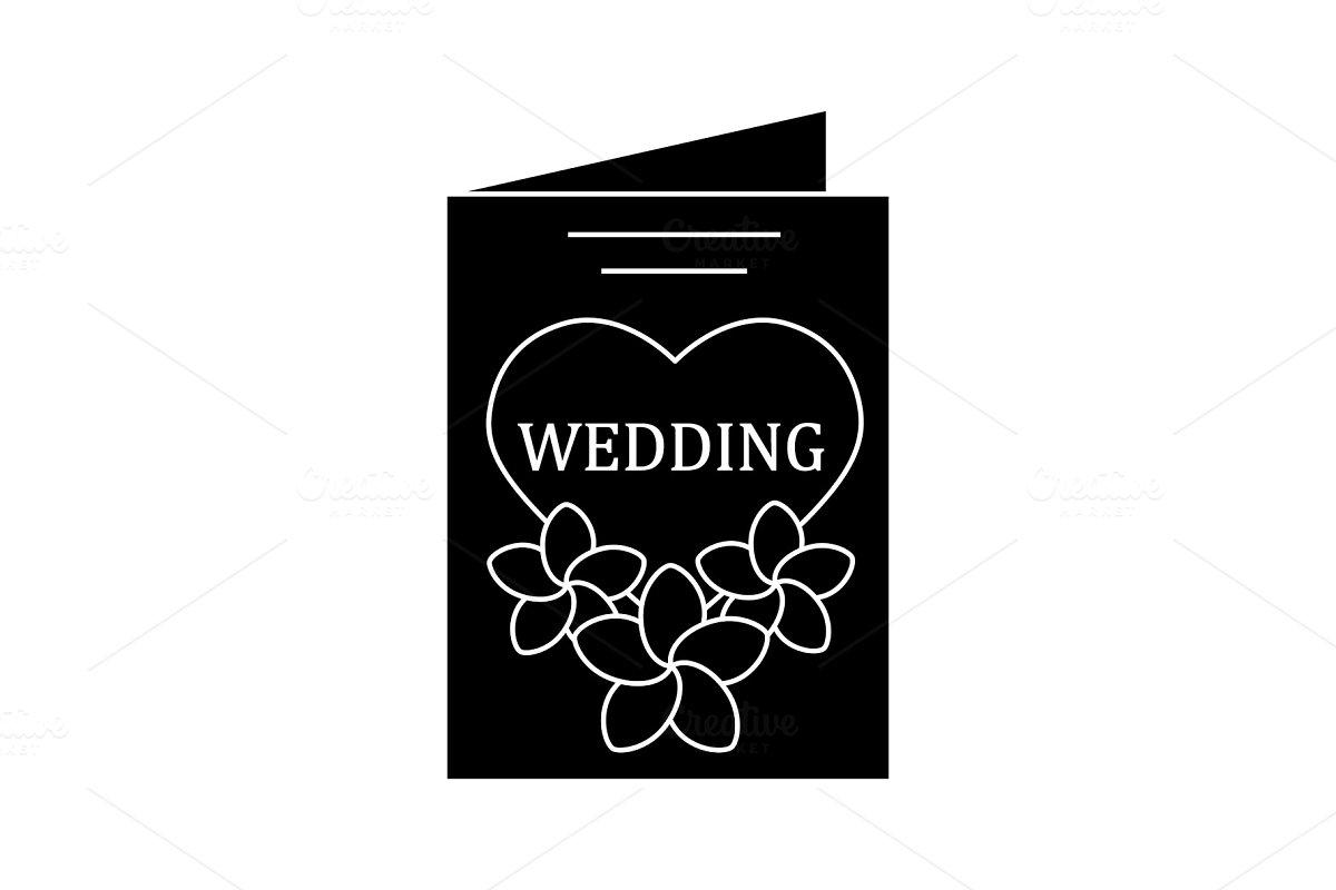 Wedding Invitation Card Glyph Icon